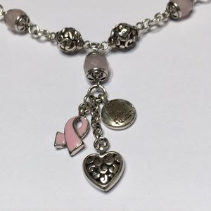 Brighton necklace Pink breast cancer awareness
